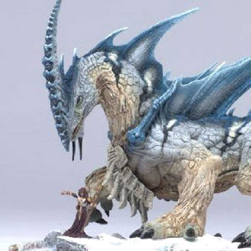 McFarlane Dragons série 6 Dragão do gelo Ice Dragon (aberto)
