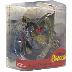 Mcfarlane Dragons series 7 Fire Dragon Clan :: Miniatura de Dragão do fogo