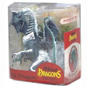 Mcfarlane Dragons series 7 Ice Dragon Clan :: Miniatura de Dragão do gelo