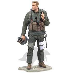 McFarlane Toys Military Series 7 / Boneco Militar Air Force Fighter Pilot (aberto)