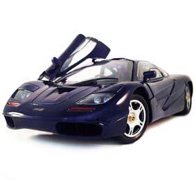 McLaren F1 cor azul metálico (1993) : miniatura Maisto escala 1/18