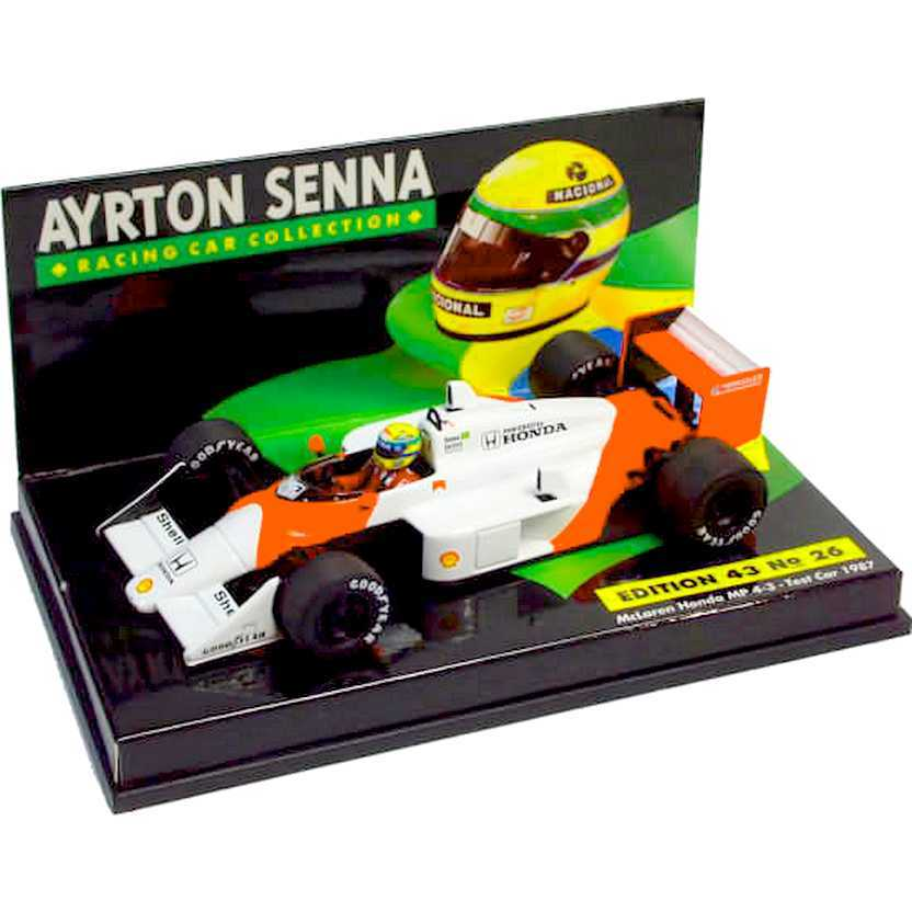 McLaren Honda MP4/3 test car 1987 Ayrton Senna - Minichamps escala 1/43