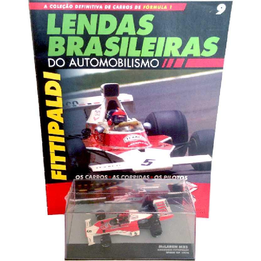 McLaren M23 Emerson Fittipaldi Lendas Brasileiras #9 do Automobilismo escala 1/43