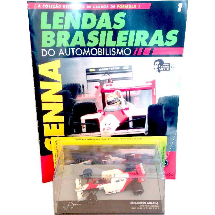 McLaren Mp4/4 Ayrton Senna Lendas Brasileiras #1 do Automobilismo escala 1/43
