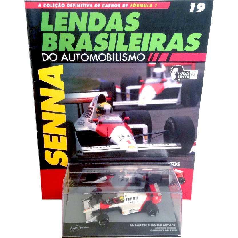 McLaren Mp4/5 Ayrton Senna Lendas Brasileiras #19 do Automobilismo escala 1/43