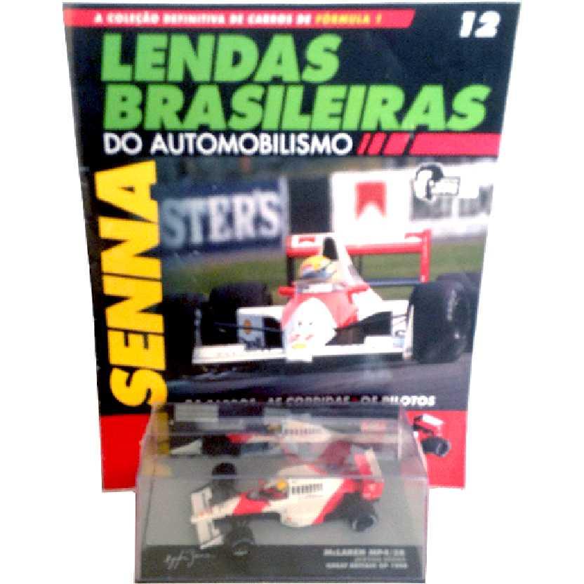McLaren Mp4/5B Ayrton Senna Lendas Brasileiras #12 do Automobilismo escala 1/43