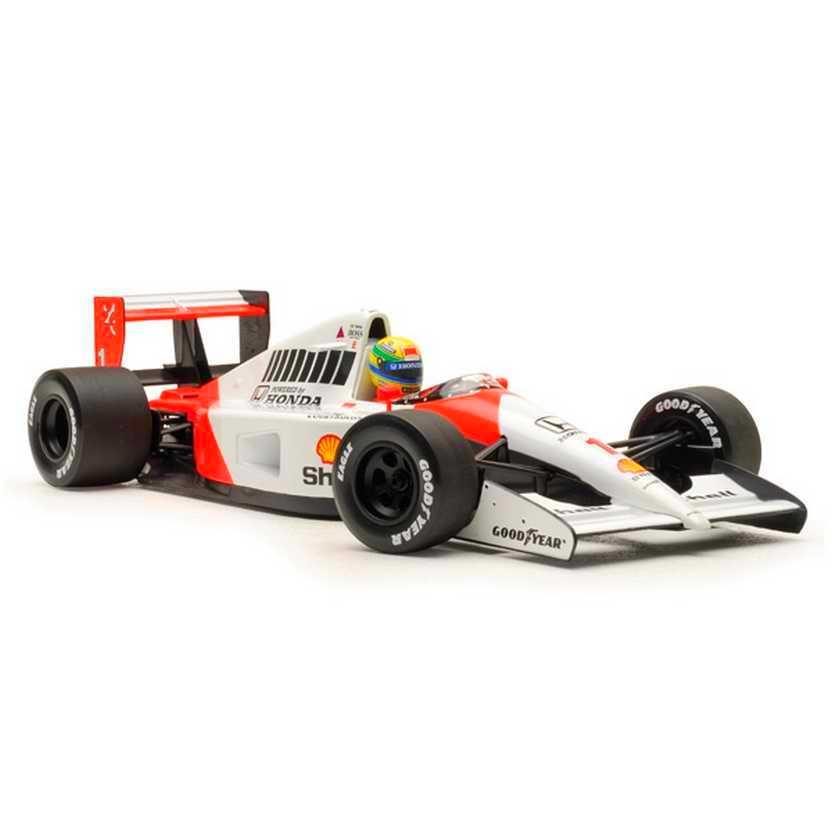 McLaren MP4/6 Ayrton Senna (1991) Tricampeão marca Minichamps escala 1/18
