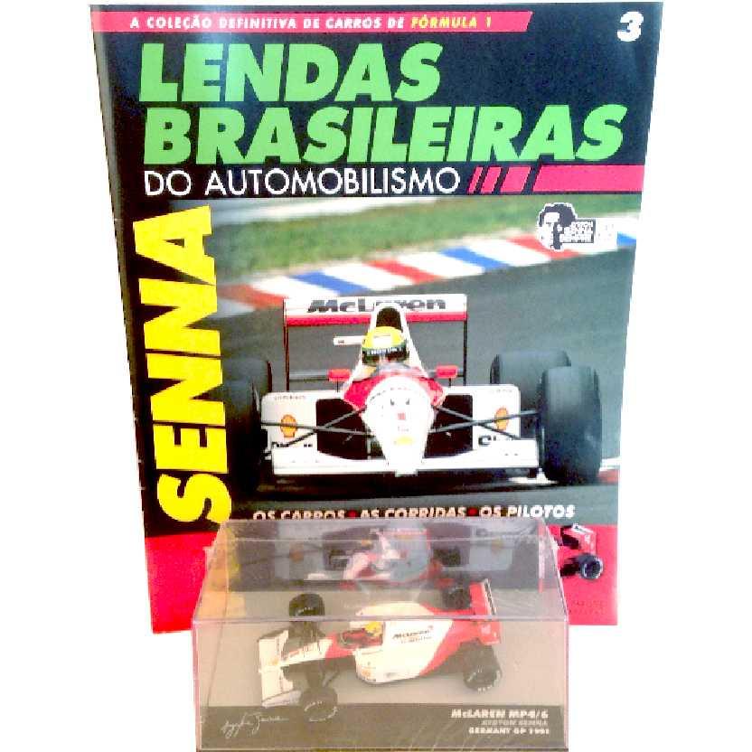McLaren Mp4/6 Ayrton Senna Lendas Brasileiras #3 do Automobilismo escala 1/43