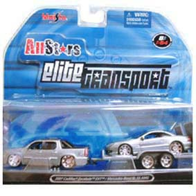 Mercedes Benz Sl 55 AMG e Cadillac Escalade (2007) Maisto All Stars Elite Transport
