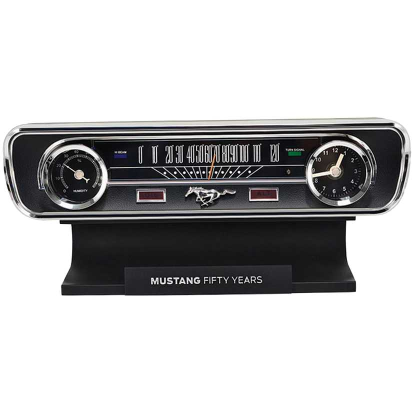 Mini Painel do Ford Mustang (1965) 50th Anniversary Desktop Sound Clock Thermometer