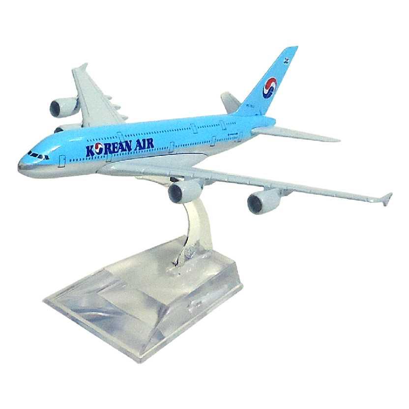 Miniatura Avião Comercial em metal Airbus A380 da Korean Airlines Aviões Comerciais