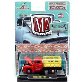 Miniatura da Ford F-100 Truck (1956) R15 31500 M2 Machines escala 1/64