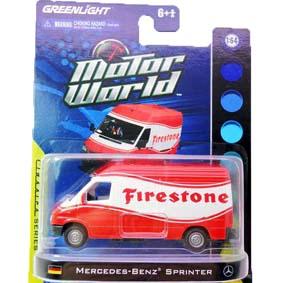 Miniatura da Greenlight Mercedes Benz Sprinter Van Air Motor World R3 96030