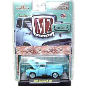 Miniatura da M2 Machines escala 1/64 Mercury M-100 Pickup (1956) Auto-Thentics R17 31500