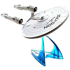 Miniatura da nave U.S.S. Enterprise NCC-1701 Star Trek Playmates Movie (com som e luz)