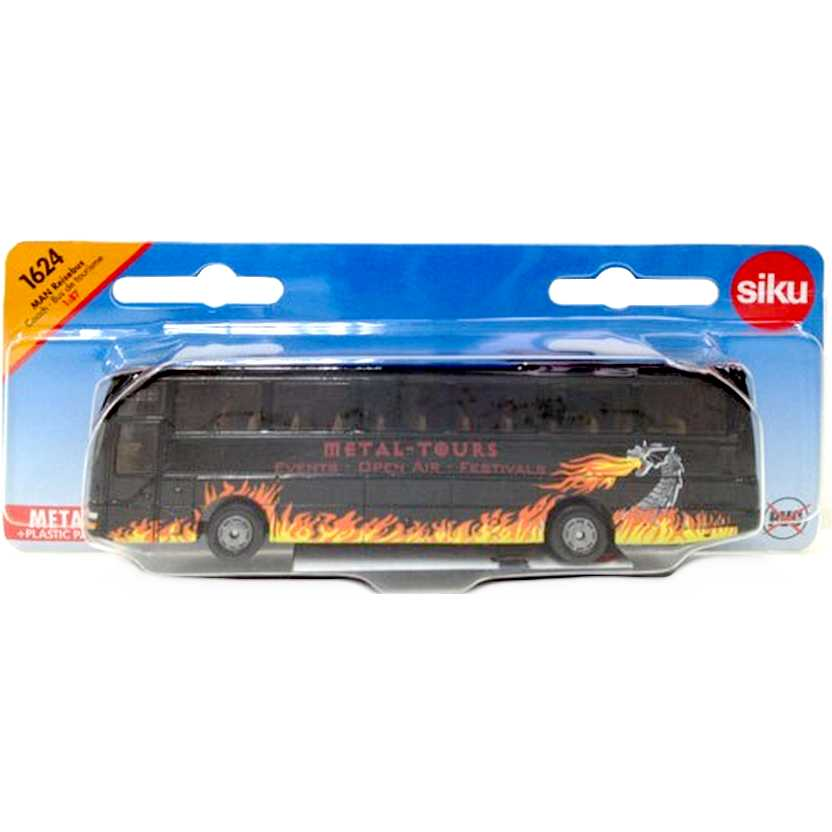 Miniatura de ônibus de turismo escala 1/87 - MAN Reisebus Siku 1624