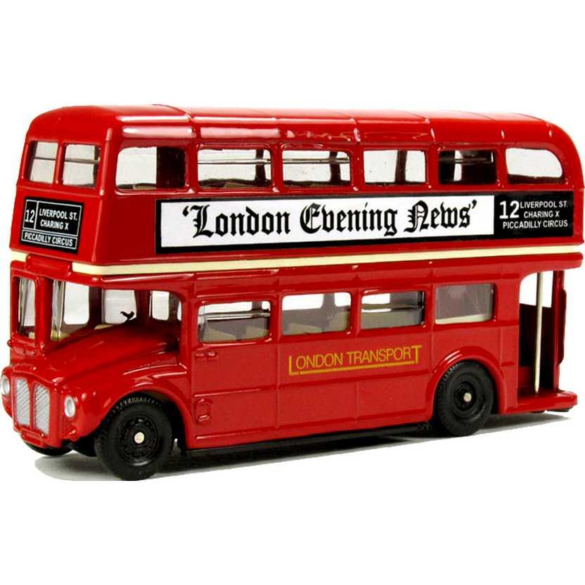 Miniatura de ônibus inglês 2 andares (London Bus) Oxford escala 1/76 76LD001