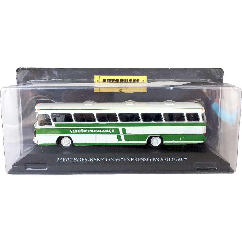Miniatura de ônibus Mercedes Benz O 355 Viação Paraguaçu escala 1/72