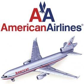 Miniatura de avião American Airlines MD-11 McDonnell Douglas 11 marca Welly