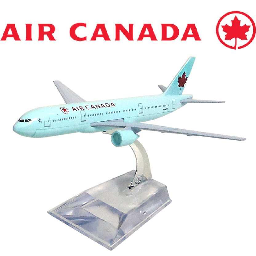 Miniatura de Avião Comercial Boeing 777 Air Canada Aviões Comerciais