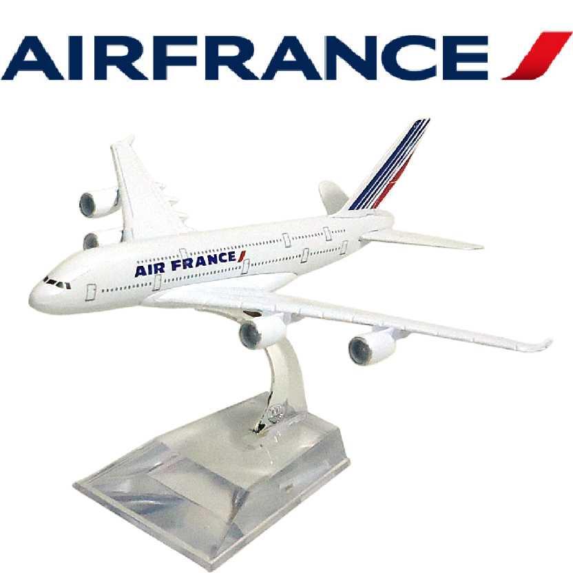 Miniatura de Avião Comercial em metal Airbus A380 da Air France Aviões Comerciais
