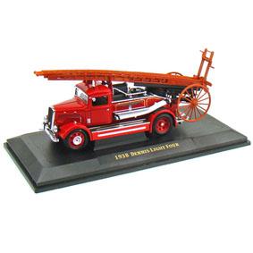 Miniatura de Caminhão de Bombeiro Dennis Light Four (1938)