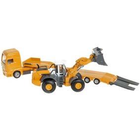 Miniatura de Caminhão MAM com Carregadora de rodas Liebherr 580 Siku 1839