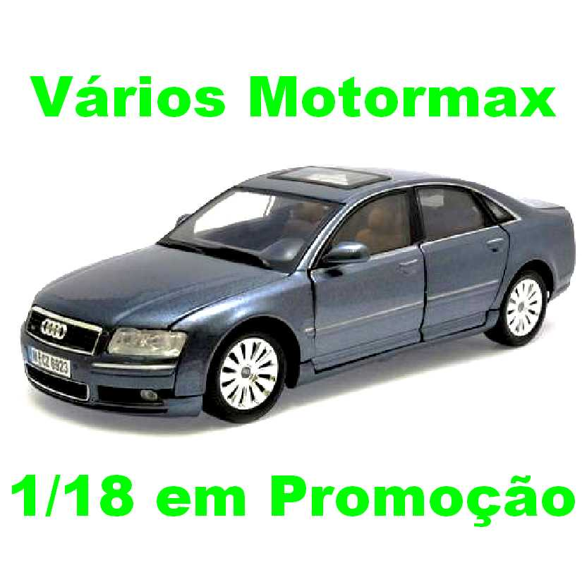 Miniatura de carro do Audi A8 marca Motormax escala 1/18 abre as 4 portas