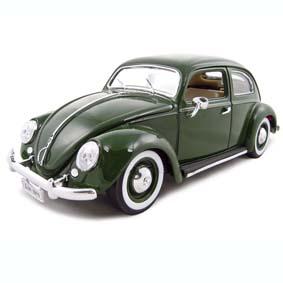Miniatura de Fusca Verde Volkswagen Beetle Kafer Fusca (1955)