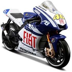 Miniatura de Moto Maisto Valentino Rossi 2010 Yamaha Moto GP No 46 1/18