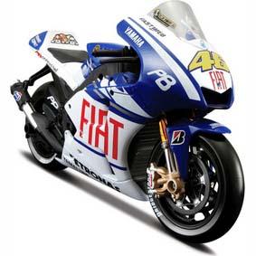 Miniatura de Moto Valentino Rossi 2010 Yamaha MotoGP 46 Maisto escala 1/10