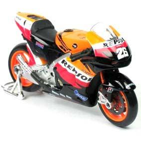 Miniatura de MotoGP Maisto Repsol Honda Team (2010) Dani Pedrosa escala 1/10