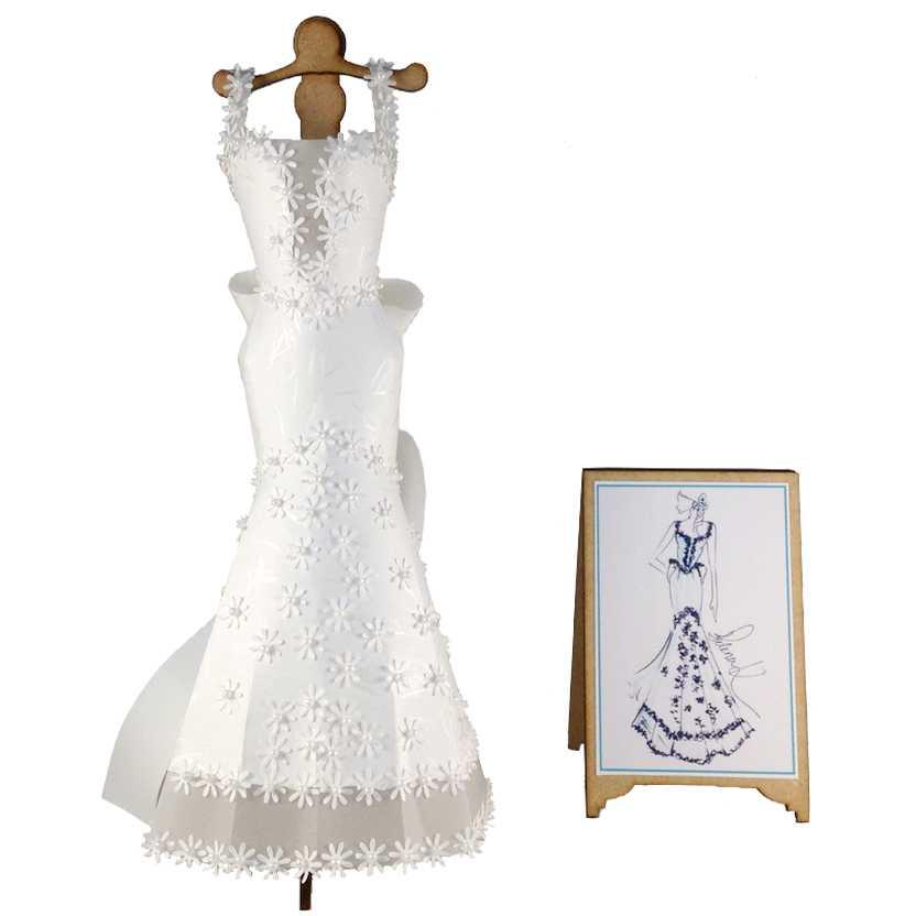 Miniatura de Vestido de Noiva (papel 2)