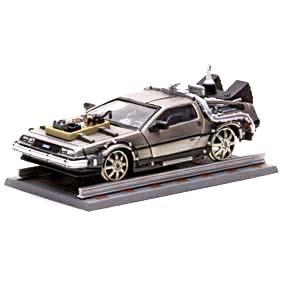 Miniatura Delorean De Volta Para o Futuro 3 ( com trilho ) Vitesse escala 1/43