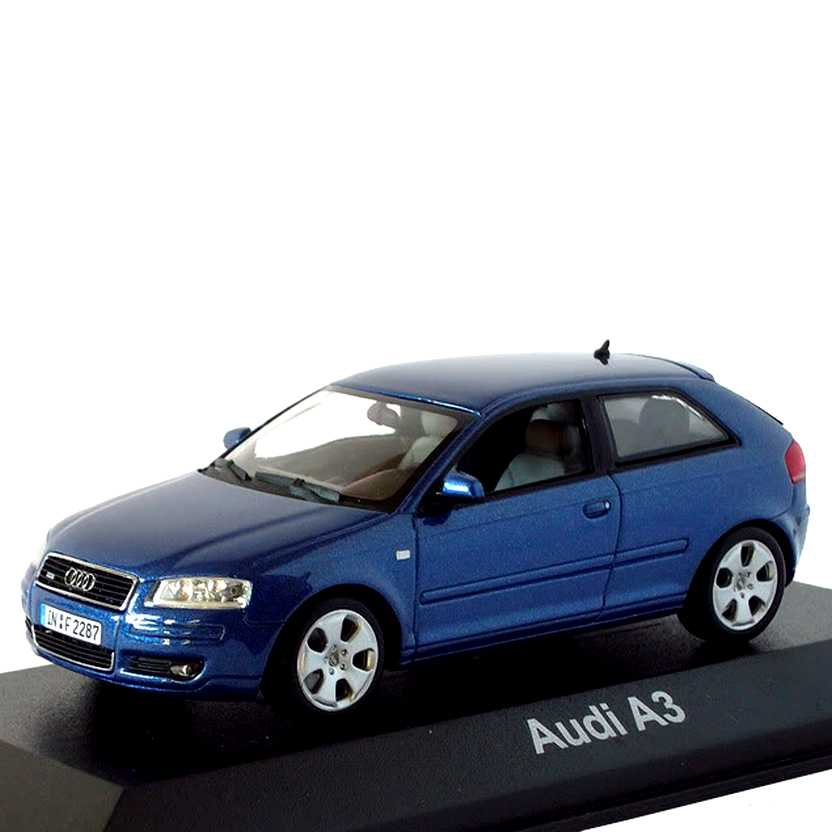 Miniatura do Audi A3 (2003) marca Minichamps escala 1/43