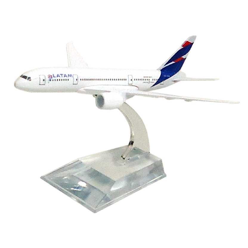 Miniatura do Avião da LATAM em metal Boeing 787 aviões comerciais do Brasil