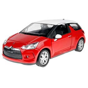 Miniatura do Citroen DS3 vermelho (2010) marca Welly escala 1/24