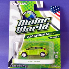 Miniatura do Ford Fiesta 2011 Greenlight Motor World série 7 R7 96070