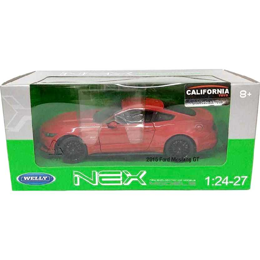 Miniatura do Ford Mustang GT (2015) 5.0 marca Welly escala 1/24 24062W