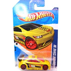 Miniatura do Honda New Civic Si Hot Wheels linha 2011 T9824 series 7/10 117/244