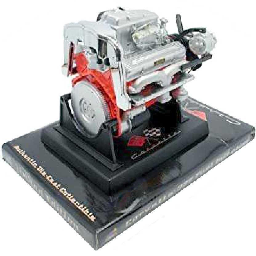 Miniatura do motor V8 Chevrolet Corvette 327 F. Inj. Liberty escala 1/6 ideal p/ Hot Toys