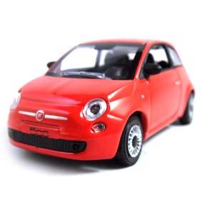 Miniatura do Novo Fiat 500 2012 cor vermelha marca Norev escala 1/43