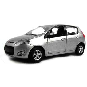 Miniatura do Novo Fiat Palio 2012 cor prata cor prata Norev escala 1/43
