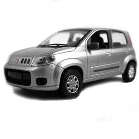 Miniatura do Novo Fiat Uno Attractive 1.4 2012 cor prata Norev escala 1/43
