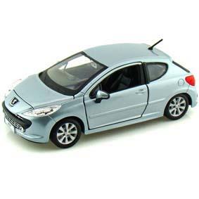 Miniatura do Peugeot 207 marca Bburago escala 1/24
