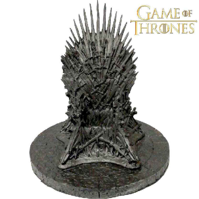 Miniatura do Trono de Ferro da Série Game of Thrones em resina