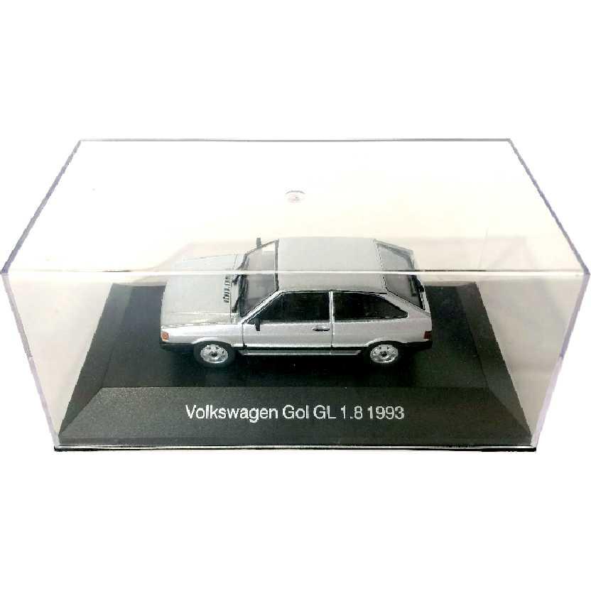 Miniatura do VW Gol quadrado (1993) Volkswagen Gol GL 1.8 escala 1/43 com caixa de acrílico