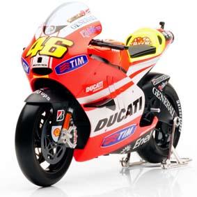 Miniatura Ducati Valentino Rossi 2011 :: Miniaturas de Motos Maisto escala 1/6