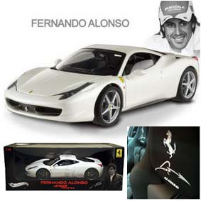 Miniatura Ferrari 458 Italia Hot Wheels Elite 2011 Fernando Alonso