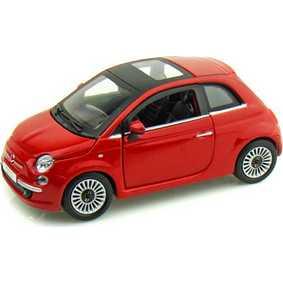 Miniatura Fiat 500 vermelho (2008) marca Bburago escala 1/24